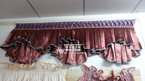 【学做窗帘帘头】窗帘布艺设计制作图片